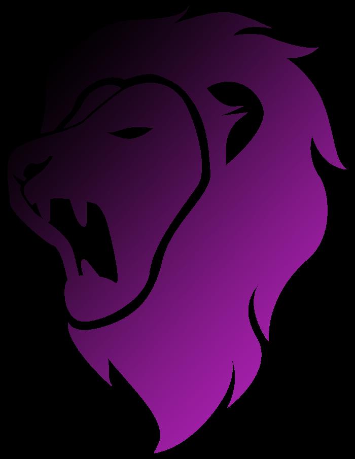 Central Progress purple-black lion head